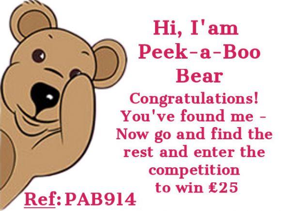 Peek-a-Boo  Bear PAB914