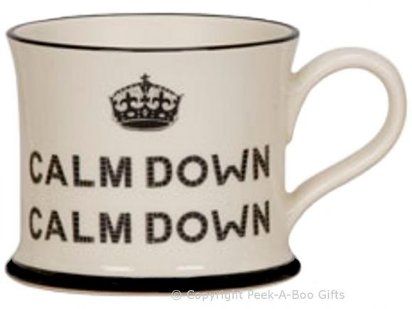 Moorland Pottery Scouser Ware Calm Down Calm Down Mug