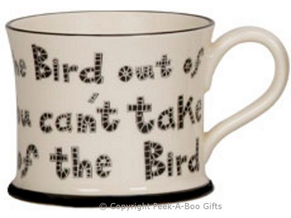 Moorland Pottery Scouser Ware Bird Out of Liverpool Mug