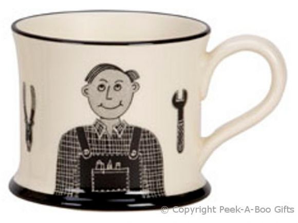 Moorland Pottery Yorkie Ware My Dad Can  Fix Owt Mug