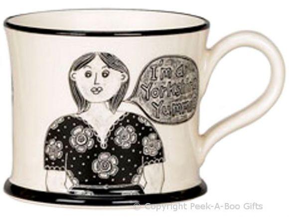 Moorland Pottery Yorkie Ware Yorkshire Lass - I'm a Yorkshire Yummy Mug