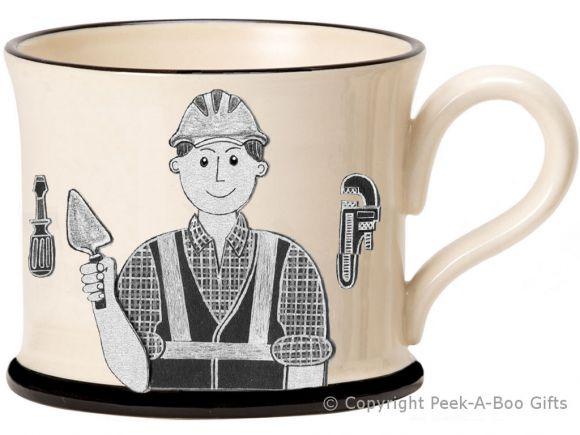 Moorland Pottery Yorkie Ware Yorkshire's Best Builder Mug